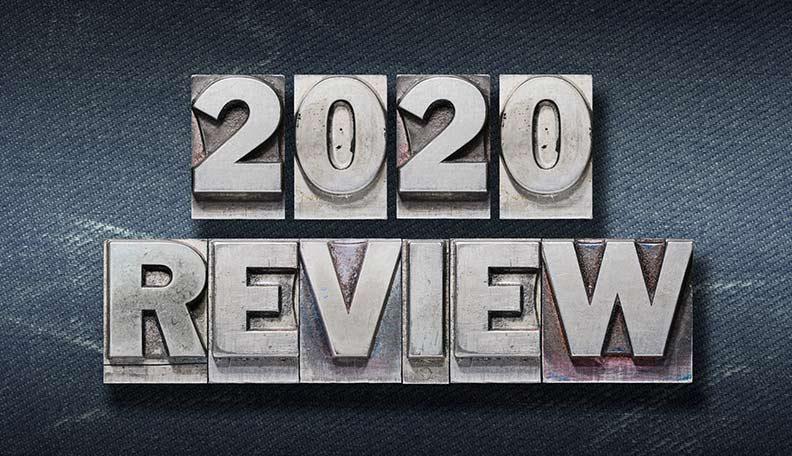 Image of '2020 review' printing blocks