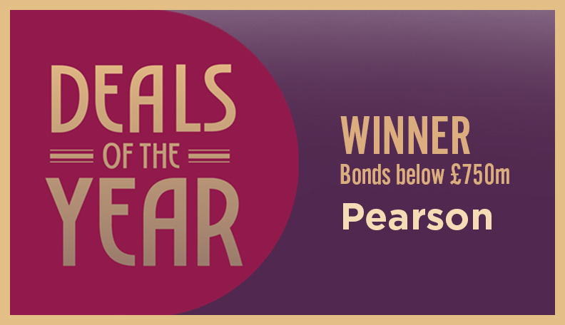 Image of DoTY badge announcing Pearson as the winner