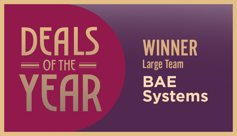 Image of DoTY badge announcing BAE Systems as the winner