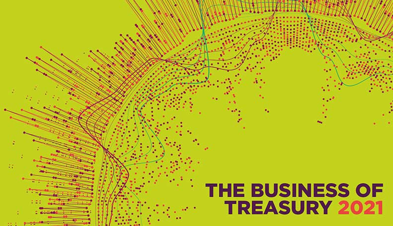 Image of the cover of The Business of Treasury 2021 report