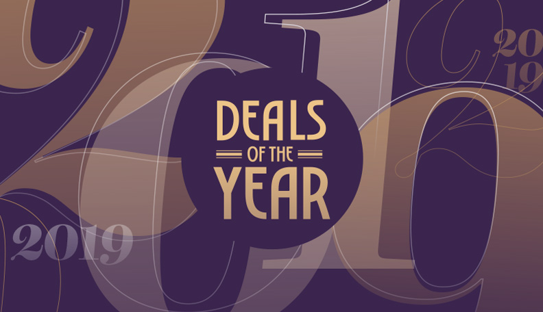 Illustration of the Deals of the Year logo and background