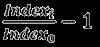 Simplified index formula