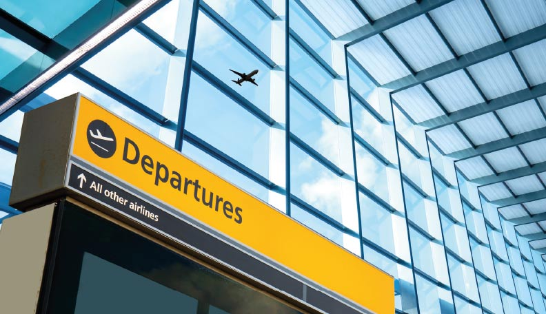 Image of the Departures entrance at Heathrow