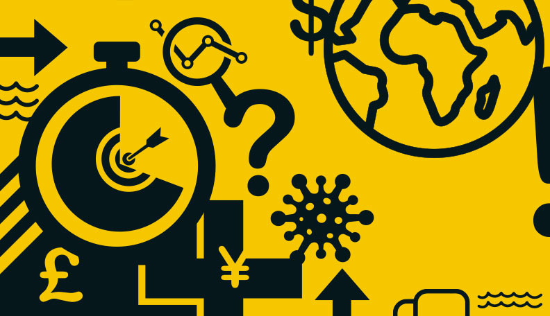 "survivalguide.jpg alt=""Yellow and black illustration of a black target surrounded by other symptoms including a globe"""