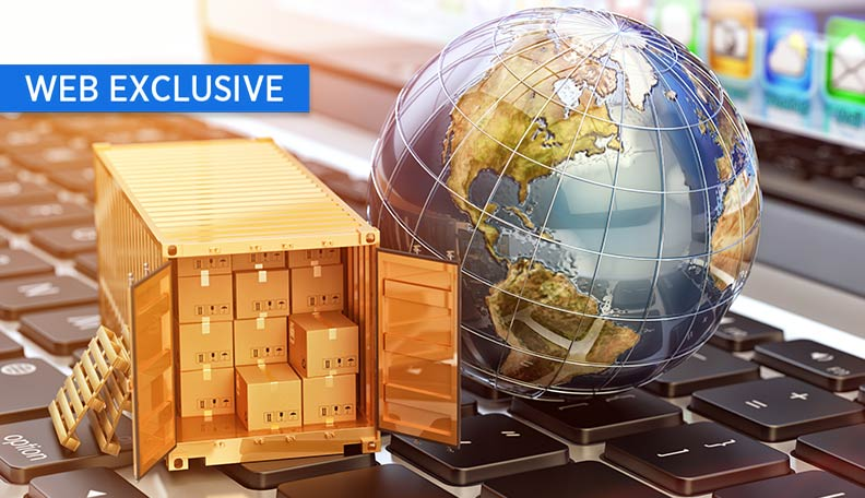 "tradeandsupply.jpg alt=""Illustration of a miniature shipping container and globe on top of a computer keyboard"""