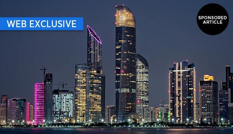 Night-time cityscape of Abu Dhabi