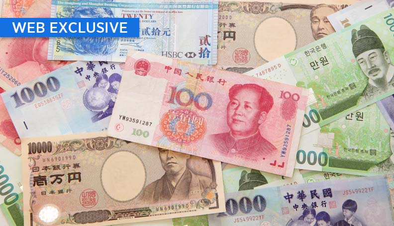 Image of Asian currency notes