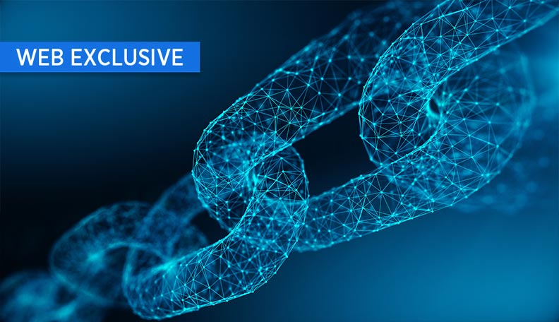 Illustration of a digitalised chain link