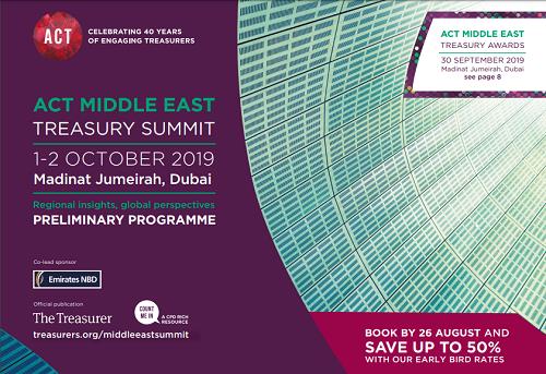 Middle East Treasury Summit 2019 brochure