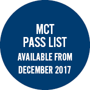 MCT results available in June 2017