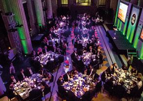 The awards dinner dining room