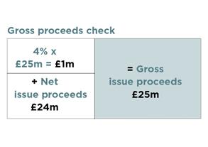 gross proceeds check